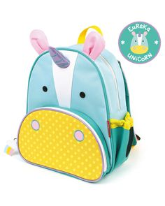 Zoo Little Kid Backpack | Skiphop.com Whimsical details and durable materials make this animal backpack the perfect pack for on-the-go! Mesh side pocket adjusts to fit a juice box, sippy cup or water bottle. The front pouch is ideal for snacks and includes extra pockets for pencils and other travel necessities. Comfy padded straps go easy on little shoulders!