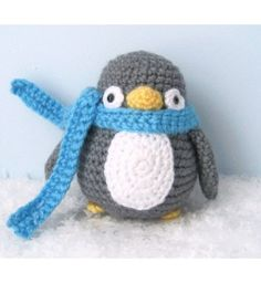 Amigurumi Crochet Penguin Pattern Digital Download - I wish someone would make him for me!!