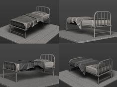 Pritesh sakhare. 3D Artist: Hospital bed in zbrush