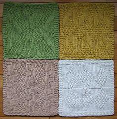 #1 Really Reversible Dishcloths Set of 4 - Knitting Patterns and Crochet Patterns from KnitPicks.com