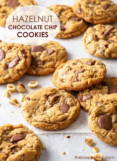 Hazelnut Cookies, Gluten Free Chocolate Chip Cookies, Chocolate Chip Cookie Dough, Best Gluten Free Desserts, Healthy Dessert Recipes, Delicious Desserts, Dairy Free Cheesecake, Raw Cheesecake, Easy Cookie Recipes