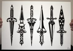 black dagger tattoos - Google Search