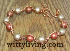 http://www.wittyliving.com/beaded-jewelry-making/beaded-bracelets-projects-and-patterns/2152-wire-wrapped-bracelet-tutorial-beaded-wave.html. cut thinner wire approximately four times the length of bracelet. Leave ends long enough to tuck into beads.
