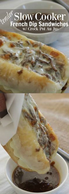 Tender Slow Cooker French Dip Sandwiches with Crock Pot Au Jus