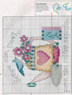 Schema punto croce Annaffiatoio