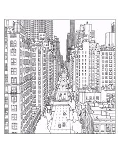 50 Printable Adult Coloring Pages That Will Make You Feel Like A Kid Again NYC DRAWINGNew York DrawingDrawing IdeasBook