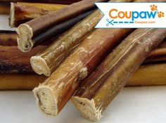 "12"" Bully Sticks are great for even the most aggressive chewers. They provide plenty of chew time for larger dogs and last extra long when used with small dogs. They are made from free-ranging grass fed cattle and are a great choice for an all-natural chew. Any bully stick will promote healthy teeth and gums because of the chewing action required to eat the stick. Exclusively FREE-RANGE grass fed cattle is used in these Bully Sticks natural beef dog treats and dog chews."