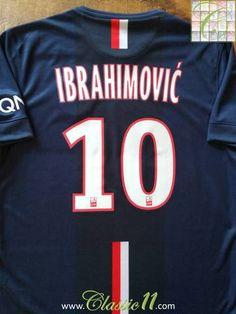 edaee0c449 2014 15 PSG Home Ligue 1 Football Shirt Ibrahimovic  10 (M)   Soccer