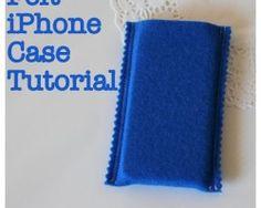 tutorial iphone case felt sewing