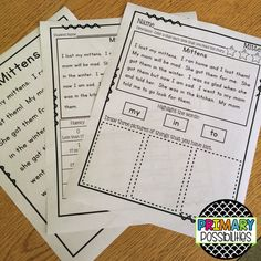 Leveled fluency passages with reading comprehension skill questions.