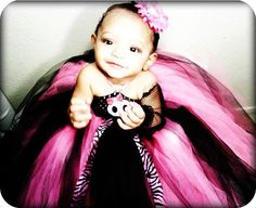 Punk Princess Pink And Black Tutu Dress by TutuDeliciousDelight, $30.00