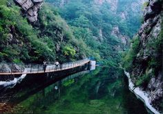 The Baxian Mountain National Nature Reserve is located at the southern slope of the Yanshan mountain chain, northeast of Jixian County, Tianjin. It is famous for its continuous ridges and peaks, boundless forests, deep gullies, running brooks and several geological relics.