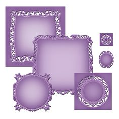 Spellbinders Nestabilities Majestic Squares 6 Dies Cut Emboss Stencil for sale online Online Craft Store, Craft Stores, Card Creator, Card Making Supplies, Letter Art, Custom Cards, Craft Items, Creative Art, Cardmaking