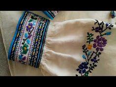 Сорочка рахунковою гладдю. Імітація ткання. За мотивами бойківських та ямницьких сорочок. - YouTube Weaving, Cross Stitch, Make It Yourself, Embroidery, Elsa, Point, Color, Model, Photography