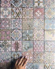 Anastasia Ropalo | VK Tile Art, Wall Tiles, Shabby Chic Style, Wc Decoration, Tuile, Tile Decals, Tile Crafts, Portuguese Tiles, Tile Patterns