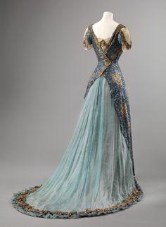 Ephemeral Elegance   Sequin and Chiffon Ball Gown, ca. 1905-10 via...