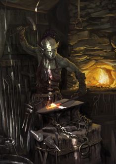 getting closer Fantasy Races, High Fantasy, Fantasy Rpg, Medieval Fantasy, Dnd Characters, Fantasy Characters, Dark Souls, Goblin Art, Character Art