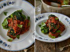 Comer bem e ser feliz: Rolinhos de couve com lentilhas, nozes e tomate seco