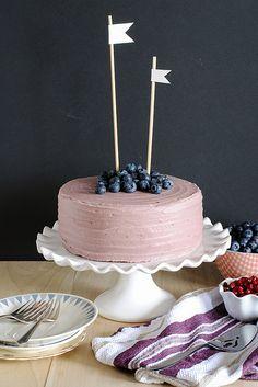 Moist Chocolate Cake with Berry Mascarpone Frosting