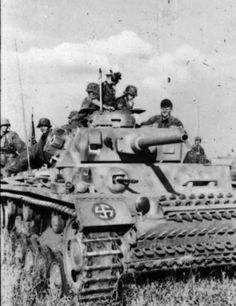 """A Panzer III from SS """"Wiking"""" in the summer of 1942; the divisional insignia can be seen on the tank's mudguard."""