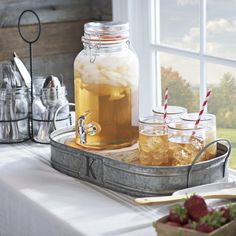 Just because summer is over doesn't mean you have to abandon hosting parties. Serve your favorite drinks in rustic beverage dispenser and cute mason jars - all for a farmhouse look!