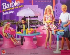 Barbie Collection * Accessories: Playset ~ So Much to Do! = Terrace - 1995