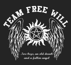Team Free Will T-Shirt $12 Supernatural tee at OtherTees!