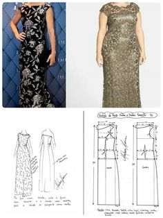 Plus size long dress Formal Dresses Uk, Plus Size Long Dresses, Strapless Dress Formal, Sewing Clothes, Diy Clothes, Long Dress Patterns, Gown Pattern, Pattern Fashion, Dressmaking