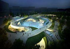 Galeria de Proposta vencedora para a Praça Central de Magok / Wooridongin Architects - 3