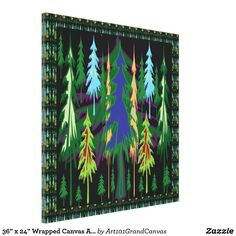 "36"" x 24"" Wrapped Canvas Amazon Rain Forest"