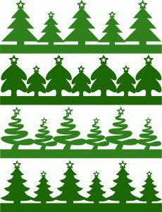 I think I'm in love with this shape from the Silhouette Design Store! - christmas tree borders set 2