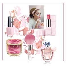"""Pink beauty"" by kit92 ❤ liked on Polyvore featuring beauty, Dolce&Gabbana and Guerlain"