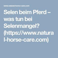 Selen beim Pferd – was tun bei Selenmangel? (https://www.natural-horse-care.com)