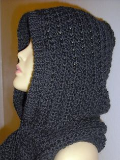 Hooded Scarf - via @Craftsy