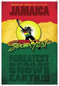 Only 100 days are left until the 'greatest reggae show on earth' Reggae Sumfest, July 21-27, 2013. http://reggaesumfest.com/