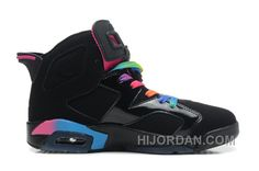 more photos 56a2e 472e4 543390-050 Air Jordan Retro 6 GS - Black Pink Flash-Marina Blue R88Z7,  Price   89.90 - Air Jordan Shoes, Michael Jordan Shoes