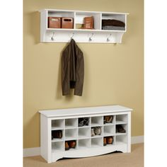 Cute for mud room or by front door.  More storage for shoes!