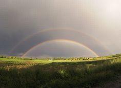 Somewhere over the rainbow...  Taken by Go Pro Hero3