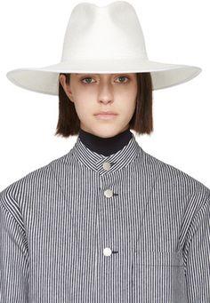 CLYDE White Straw Pinch Panama Hat