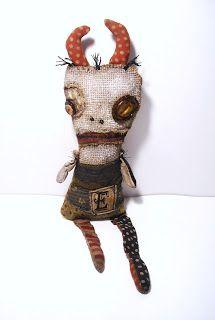 Junker Jane Art Dolls and Soft Sculptures: Monster Evilyn