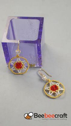 tutorial on making with - jewelry diy bracelets Tatting Earrings, Tatting Jewelry, Beaded Earrings, Crochet Earrings, Hoop Earrings, Handmade Beaded Jewelry, Beaded Jewelry Patterns, Embroidery Jewelry, Lace Bracelet