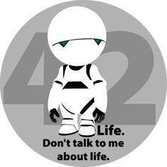Hitchhiker's Guide To The Galaxy - Marvin <3