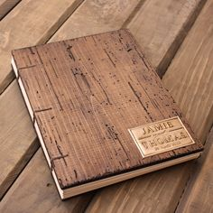 Rustic Wedding Guest Book - Coptic Binding - Truly Unique personalized with your initials or names