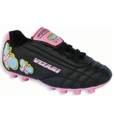 SALE - Kids Vizari Butterfly Soccer Cleats Black Synthetic - Was $19.99 - SAVE $10.00. BUY Now - ONLY $9.99