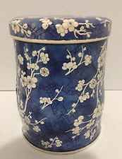Vintage Collectible  Daher Designed TIN Container Beautiful Blue