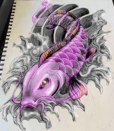Koi fish purpleTattoo Ideas Fish Purple Purple Koi Fish Tattoo