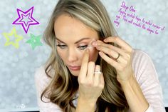 How to created winged eyeliner using scotch tape