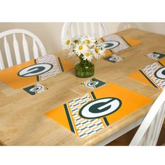 Green Bay Packers Placemat and Coaster Set
