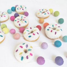 Donut Garland Rainbow Sprinkles $44.95  #sweetcreations #baby #toddlers #kids #decor