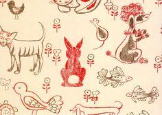 #yearofpattern florence broadhurst, cats and mice